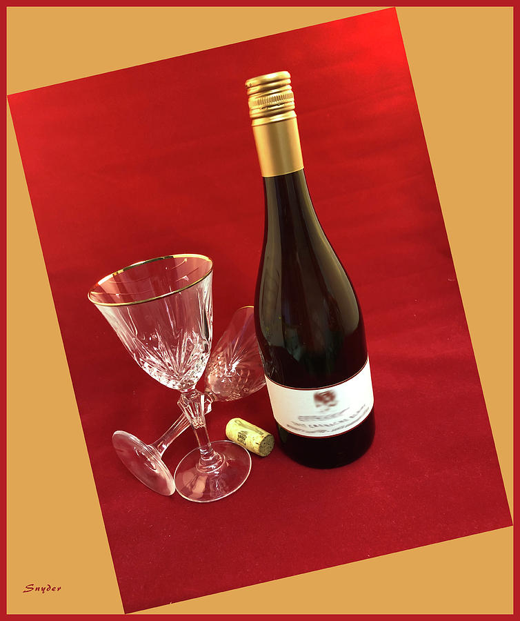 Wine Glasses on Red by Floyd Snyder