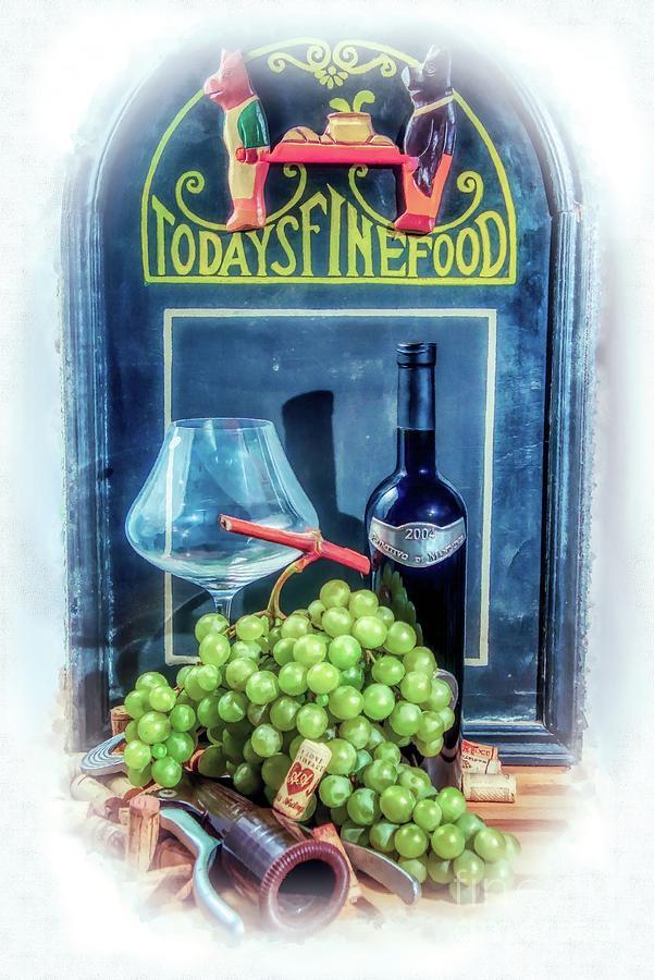 Wine Digital Art - Wine Oclock In Italy by Stefano Senise