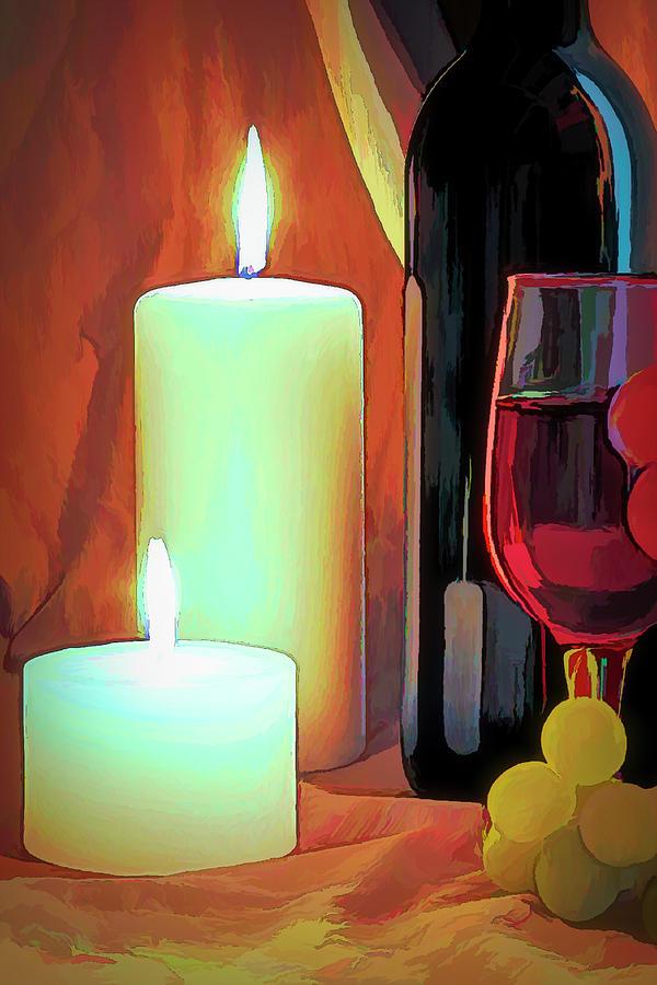 Wine Still Life by Tom Mc Nemar
