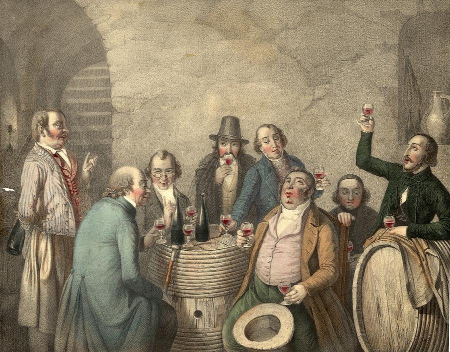Wine Tasters Digital Art by Hulton Archive