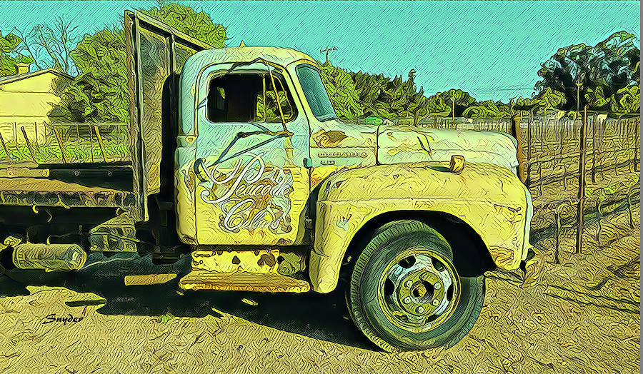 Wine Truck at Peacock Cellars by Floyd Snyder