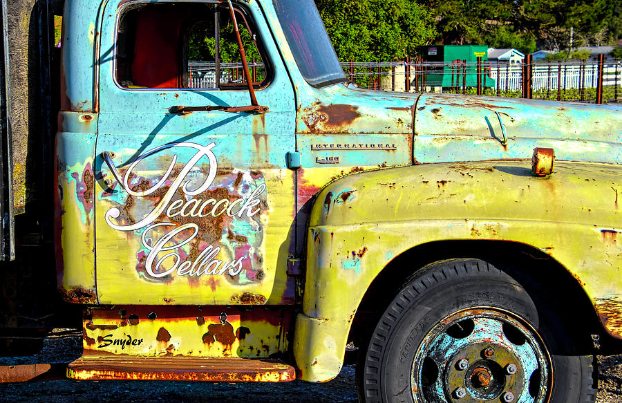Wine Truck Peacock Cellars by Floyd Snyder