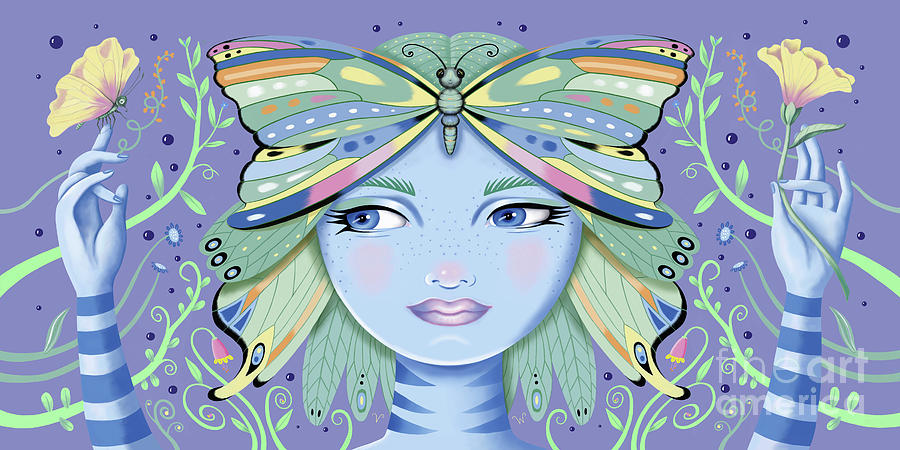Insect Girl, Winga - Purple by Valerie White