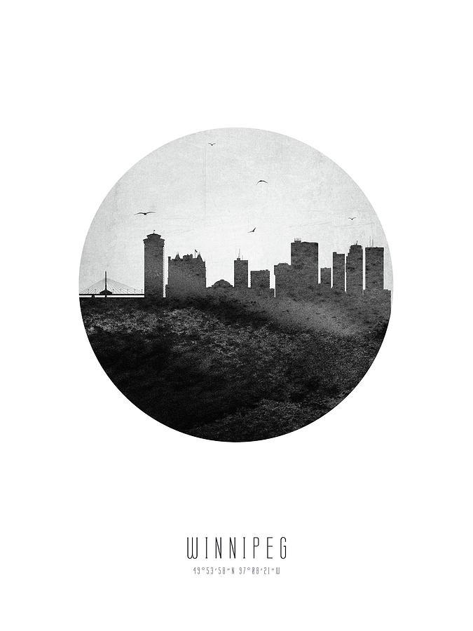 Winnipeg Digital Art - Winnipeg Skyline Cambwi04 by Aged Pixel