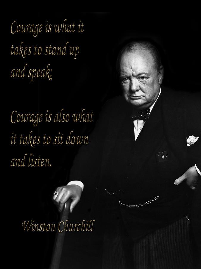 Winston Churchill 1d by Andrew Fare