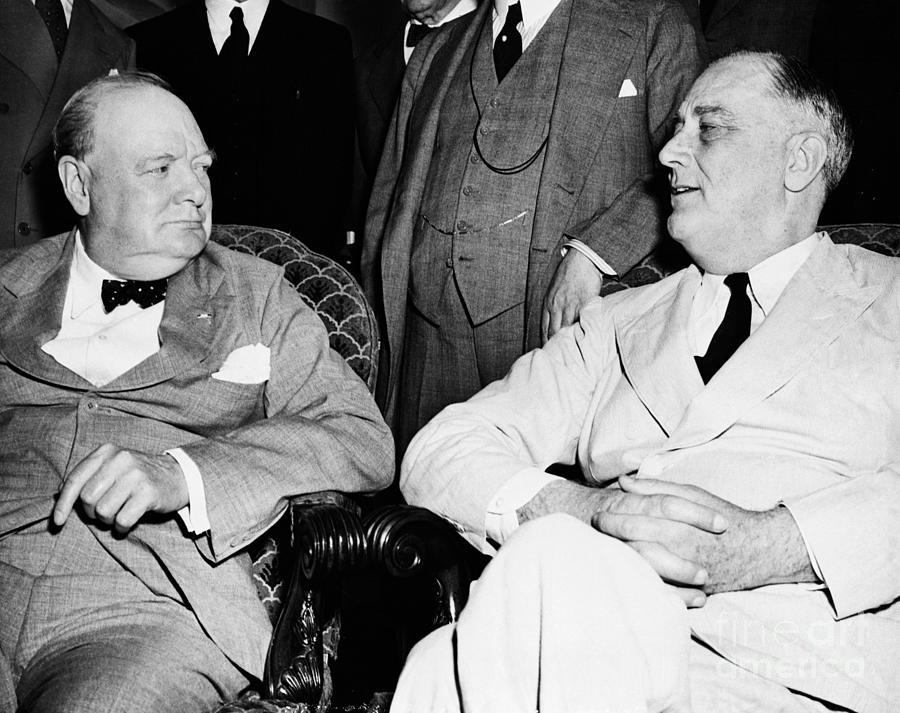 Winston Churchill And Franklin D Photograph by Bettmann