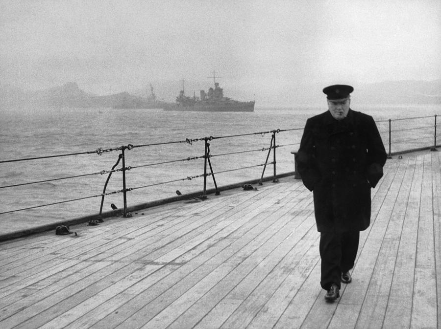 Winston Churchill Photograph - Winston Churchill At Sea by War Is Hell Store