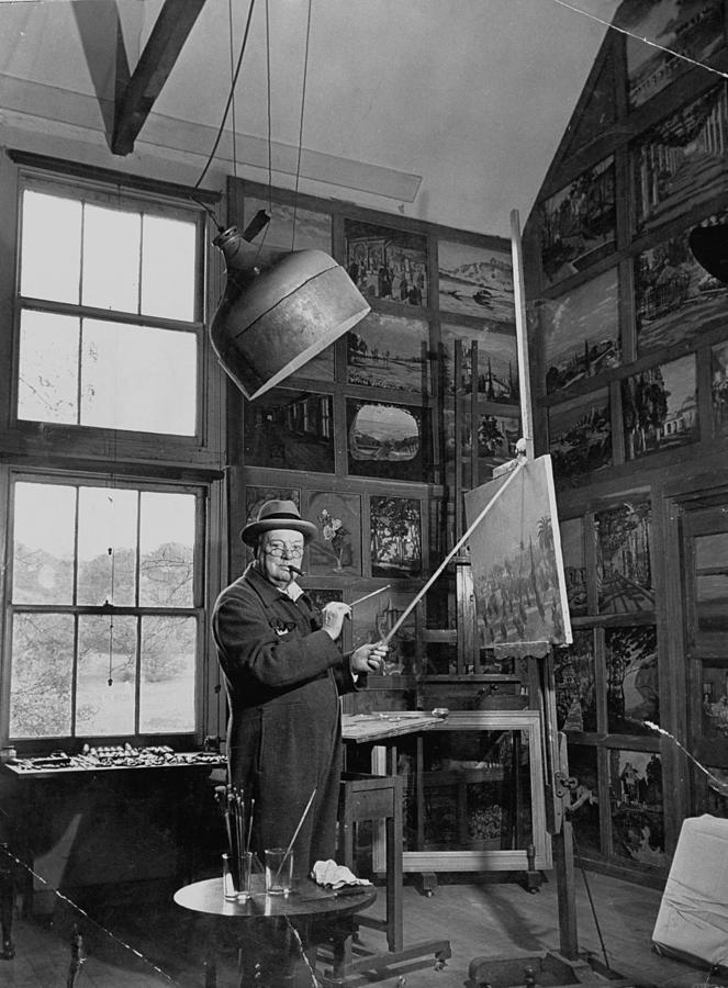 Winston Churchill Photograph by Hans Wild
