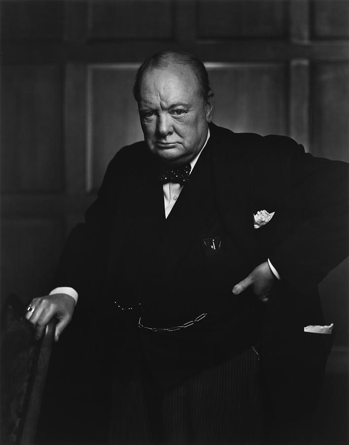 Winston Churchill Portrait - The Roaring Lion - Yousuf Karsh Photograph