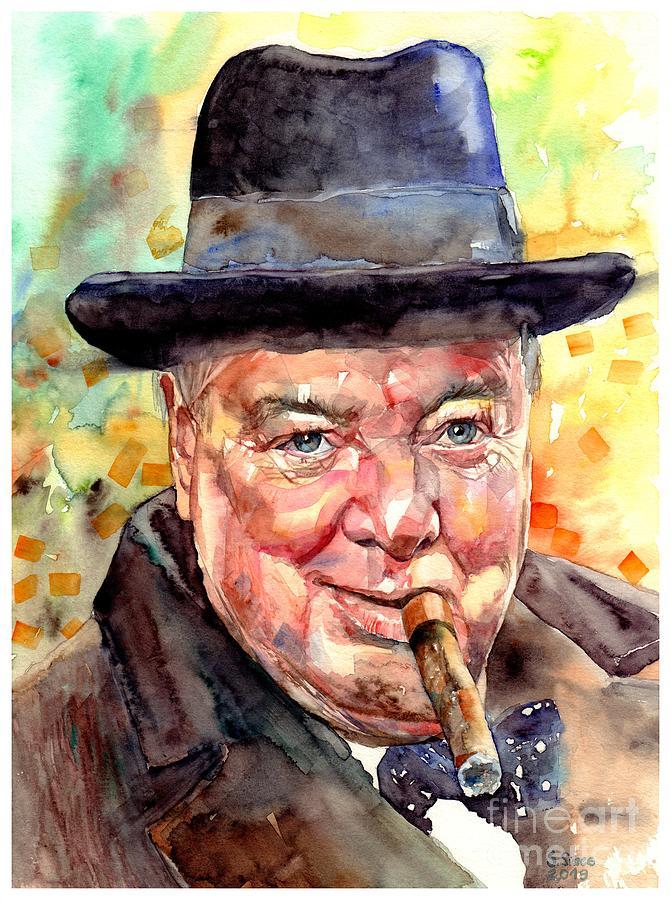 Winston Churchill Painting - Winston Churchill by Suzann Sines