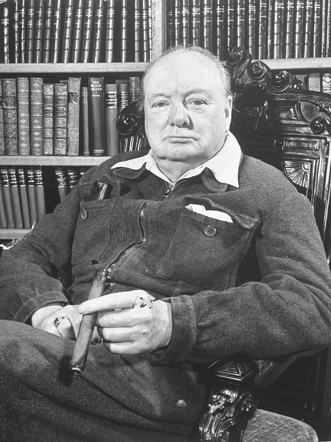 Winston Churchill Photograph by William Sumits