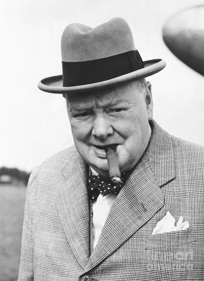 Winston Churchill With Cigar Photograph by Bettmann