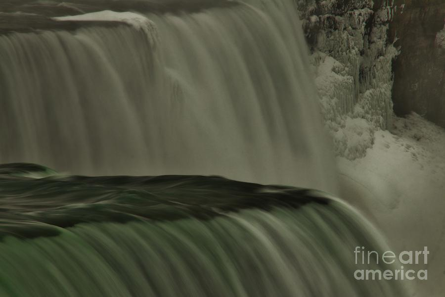 Wny Photograph - American Falls In Winter, New York by Tony Lee