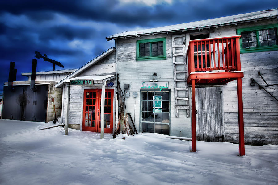 Winter at Fishtown Michigan by Evie Carrier