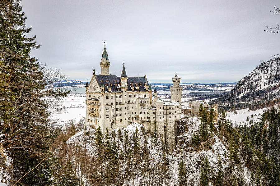 Winter at Neuschwanstein Castle by M C Hood