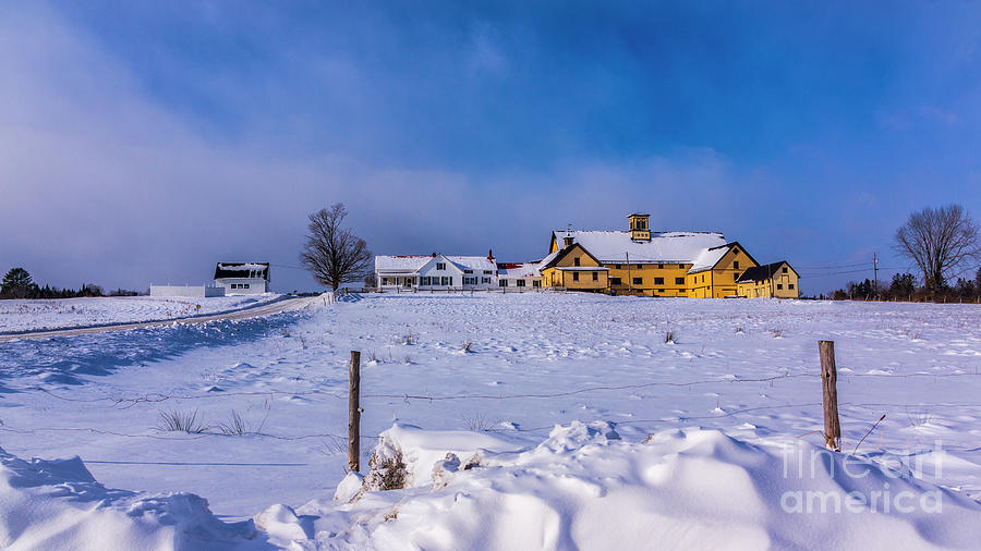 Winter at the farm by New England Photography