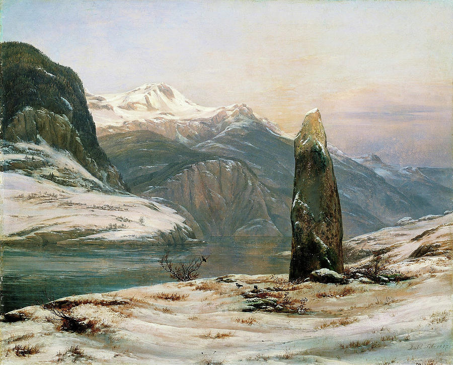 Johan Christian Dahl Painting - Winter At The Sognefjord - Digital Remastered Edition by Johan Christian Dahl