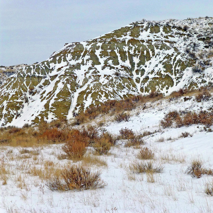 North Dakota Photograph - Winter Badlands by Cris Fulton