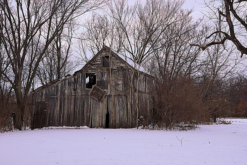 Winter Barn by Karen McKenzie McAdoo