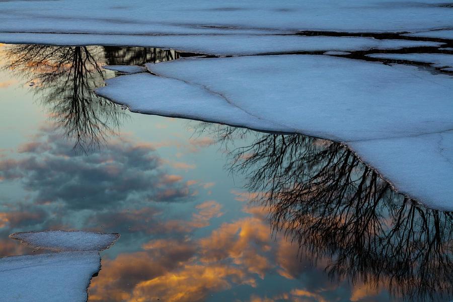 Winter Bay Reflections by Irwin Barrett