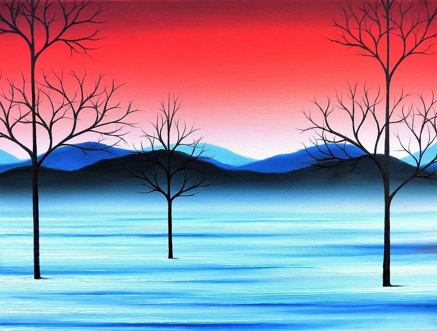 Snowy Landscape Painting - Winter Beckons by Rachel Bingaman