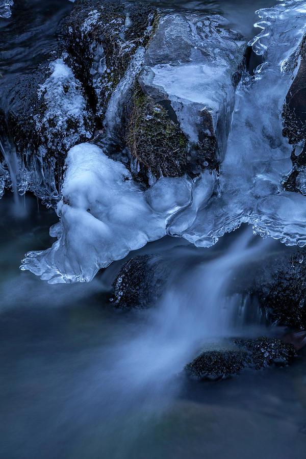 Winter Brook Cascades by Irwin Barrett