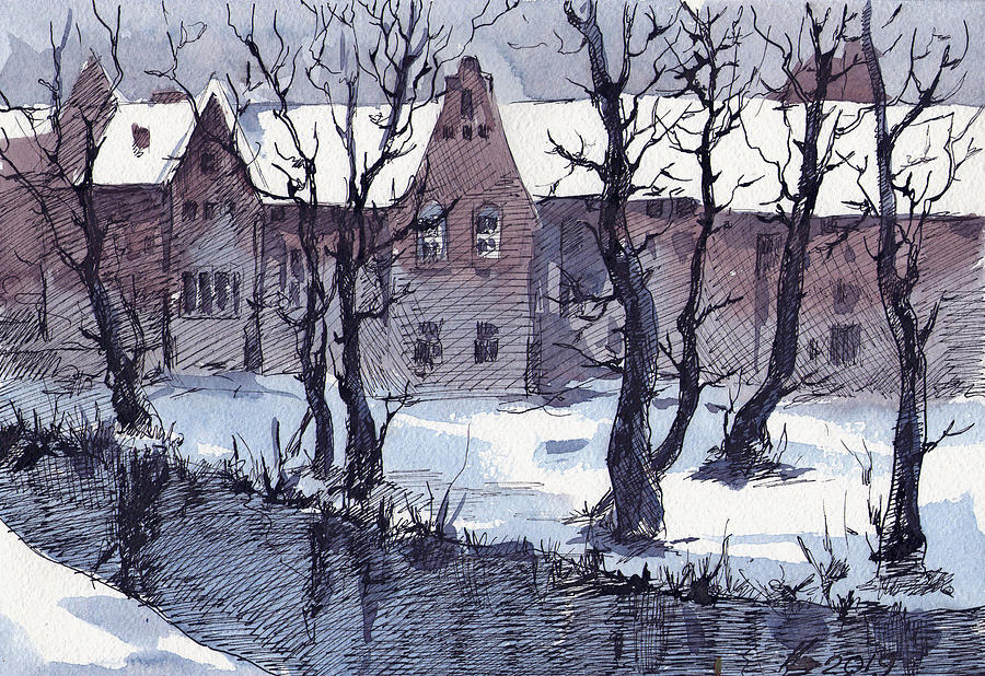 Winter Bruges by Ina Petrashkevich