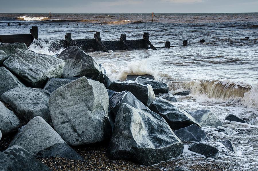 Norfolk Photograph - Winter By The Sea by Simon Pocklington