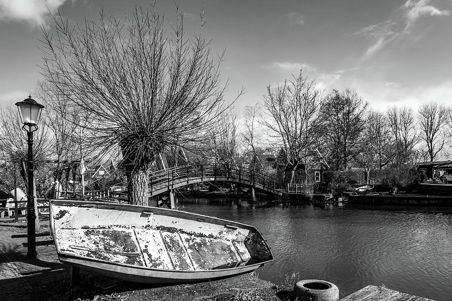 Holland Photograph - Winter Canal Scene by Framing Places