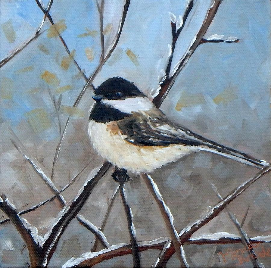 Original Painting - Winter Chickadee by Monica Ironside