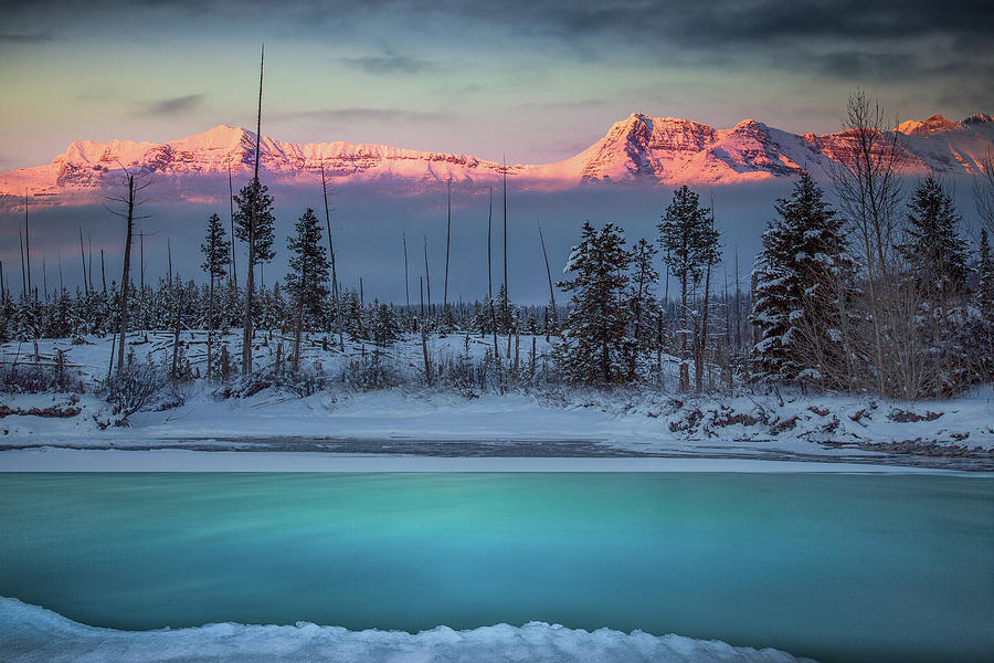 Winter Color Palette / Polebridge, Montana  by Nicholas Parker