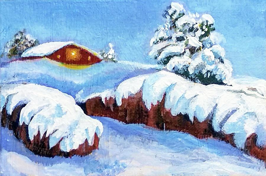 Winter cottage by Asha Sudhaker Shenoy
