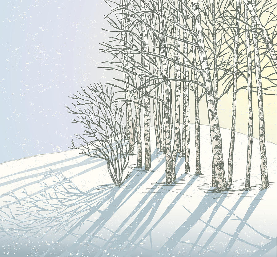 Winter Day Digital Art by Mubai