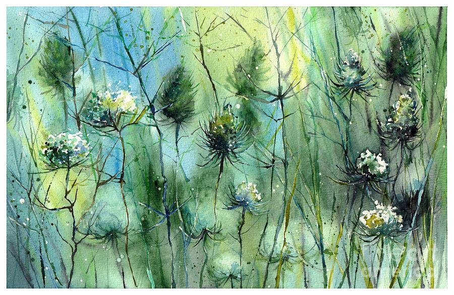 Winter Painting - Winter Flowers by Suzann Sines