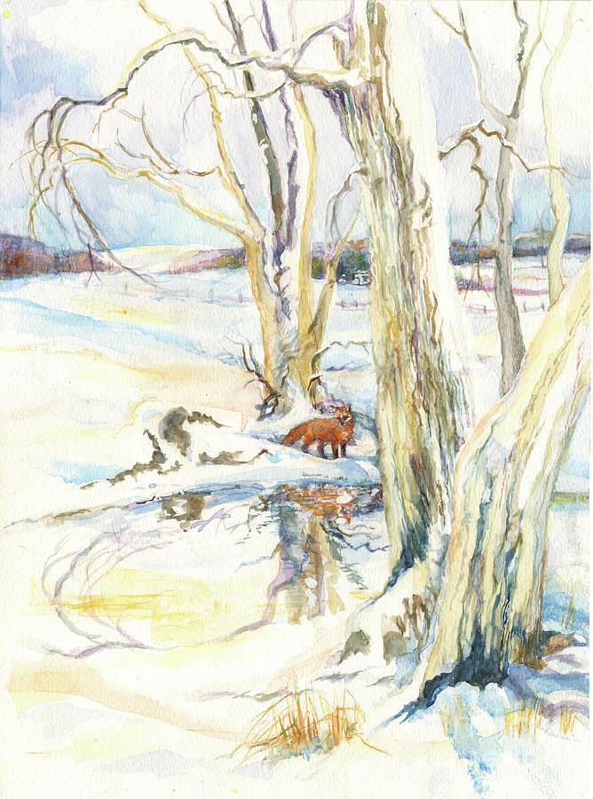 winter fox by Nancy Watson