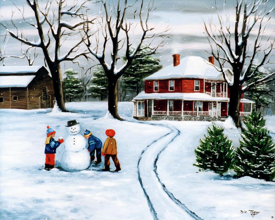 Winter Fun Painting - Winter Fun by Arie Reinhardt Taylor