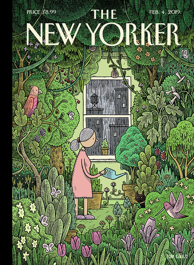 Winter Garden Painting by Tom Gauld