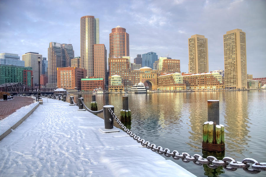 Winter In Boston, Massachusetts Photograph by Denistangneyjr