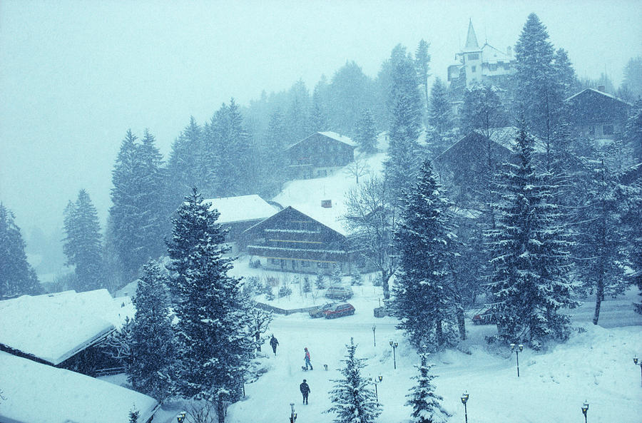 Winter In Gstaad Photograph by Slim Aarons