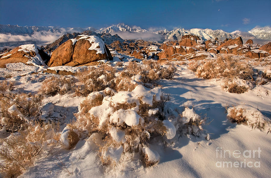 winter in the alabama hills eastern sierras california by Dave Welling