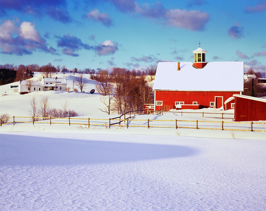 Winter In The Vermont Country Side Photograph by Ron thomas