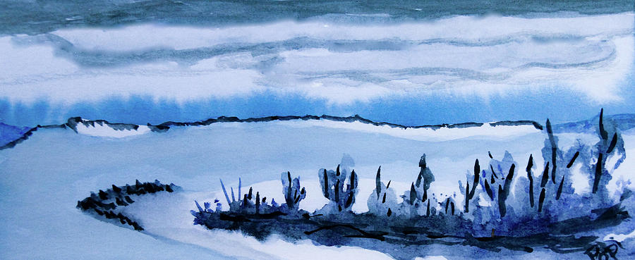 Winter Lake Shore by Paul Anderson