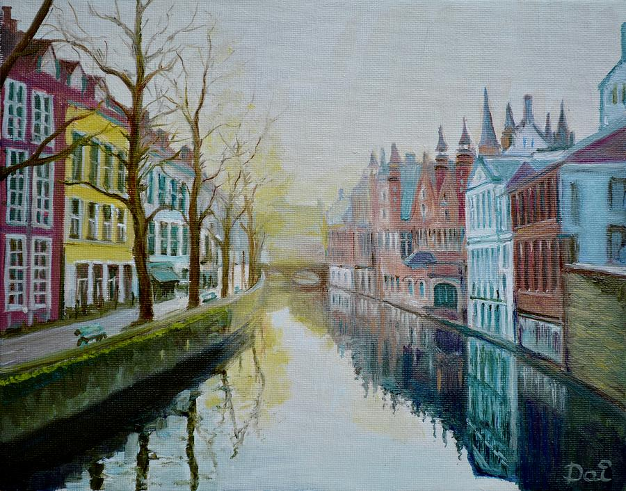 Winter Evening in Bruges by Dai Wynn