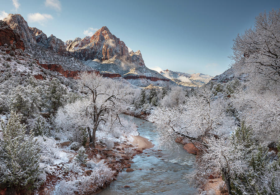 Winter Morning - Zion Photograph