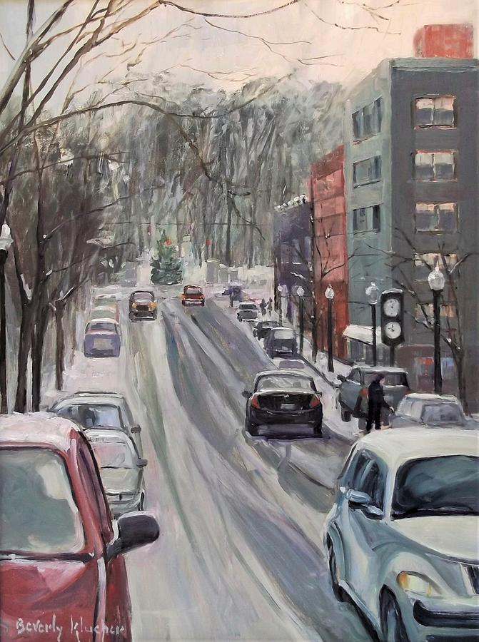 Winter On Allen Street by Beverly Klucher
