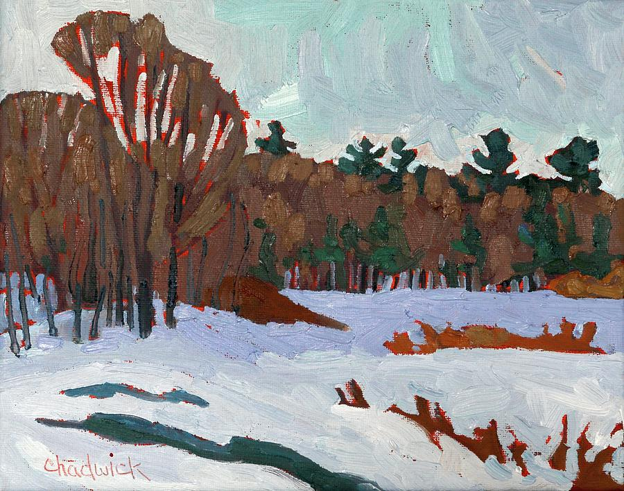 Winter on Long Reach Lane by Phil Chadwick