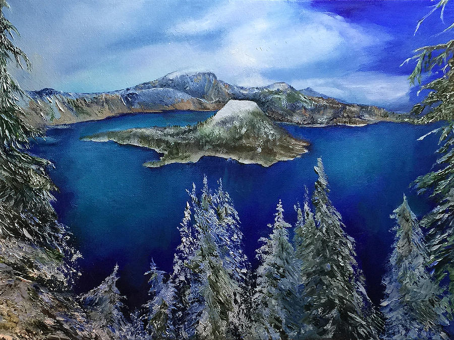 Winter on Wizard Island by Terry R MacDonald
