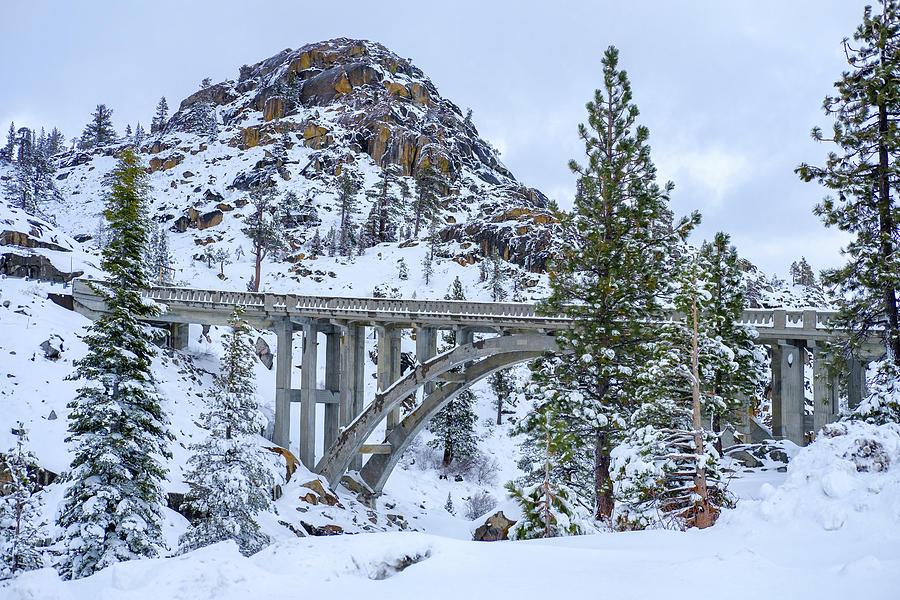 Bridge Photograph - Winter Rainbow Bridge by Robin Mayoff