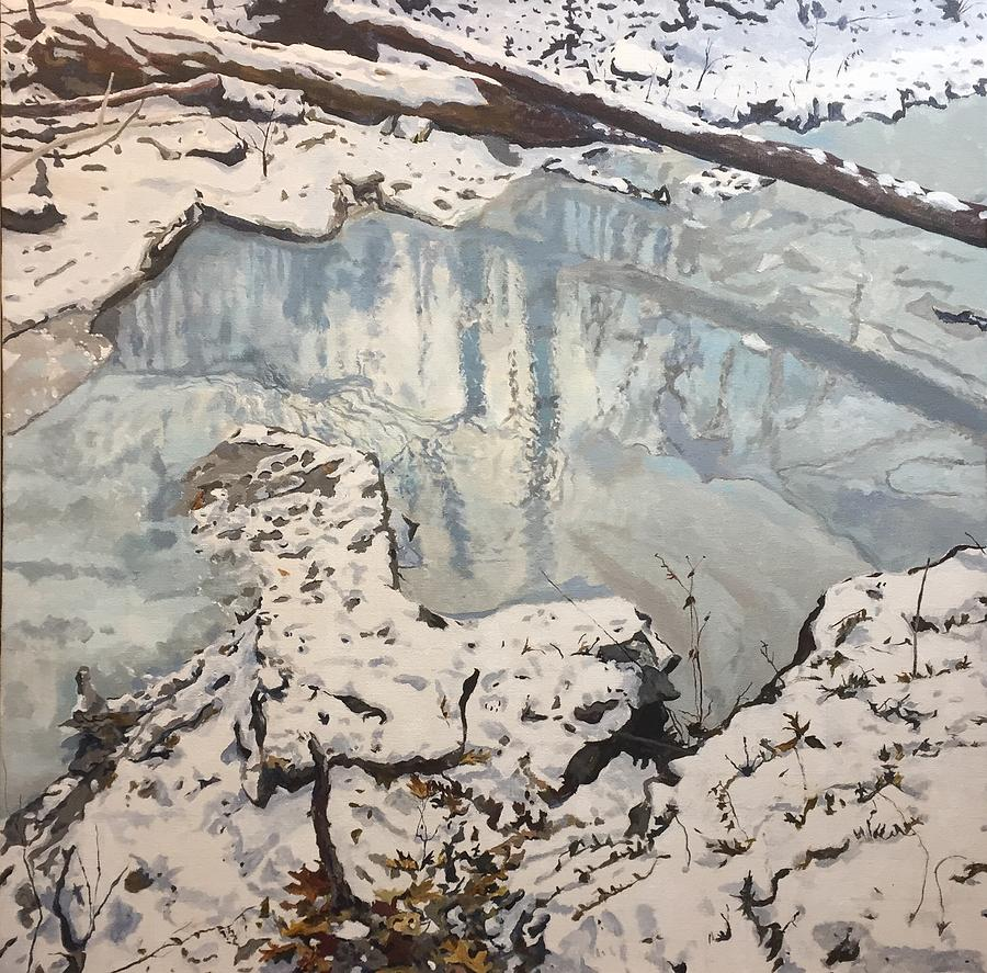 Reflections Painting - Winter Reflections by Thomas Stead