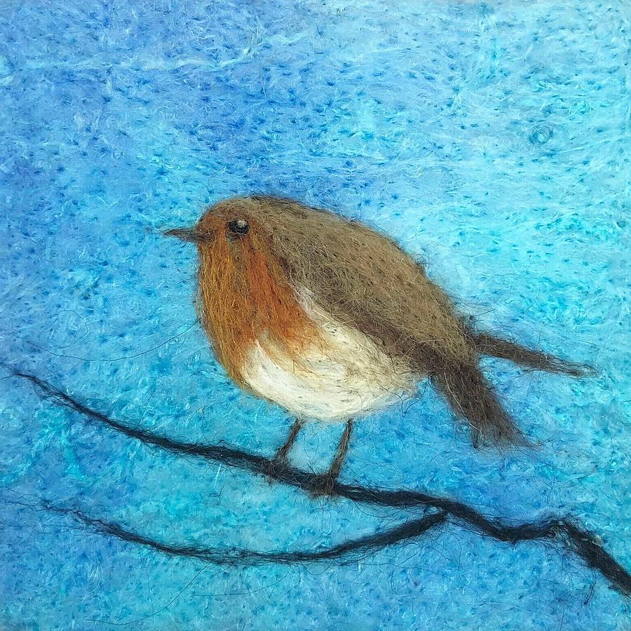 winter robin by Ushma Sargeant
